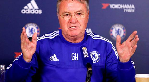 Chelsea manager Guus Hiddink during the press conference. Photo: Andrew Boyers/Action Images via Reuters