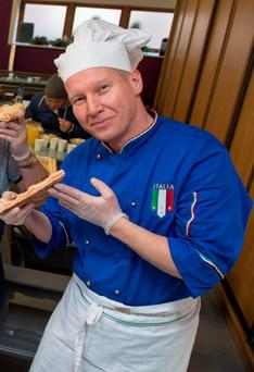 Chef Marco Brouwers, of Pizzeria San Marco in Midleton, preparing the food. Photo: Provision