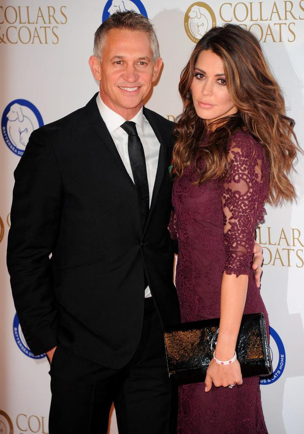 Gary Lineker and Danielle Lineker attends the annual Collars and Coats gala ball in aid of Battersea Dogs & Cats home at Battersea Evolution on November 7, 2013 in London, England. (Photo by Stuart C. Wilson/Getty Images)