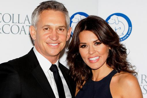 Gary Lineker and Danielle Lineker attend the Collars & Coats Gala Ball at Battersea Evolution on November 8, 2012 in London, England. (Photo by Jo Hale/Getty Images)