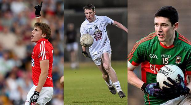 Cork's Ian Maguire, Kildare's Neil Flynn and Mayo underage star Conor Loftus