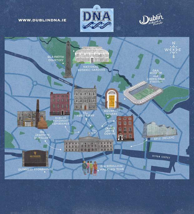 Dublin Northside Attractions (DNA) Map
