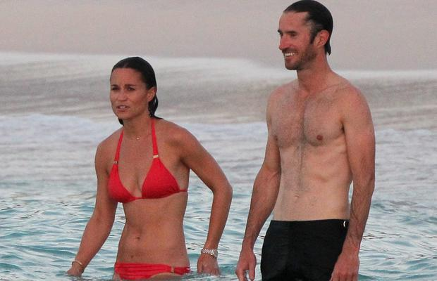 Pippa Middleton with Spencer Matthews in St Barts. Picture: Splash News