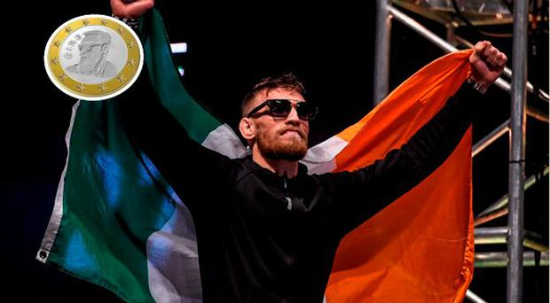 Conor McGregor is backing a petition to have his face on the €1 coin