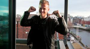 Nicky Byrne at the announcement by RTE that he will represent Ireland in Eurovision 2016 in Sweden with the song Sunlight