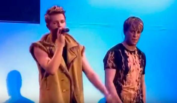 Nicky Byrne singing solo on Where Dreams Come True tour 2001