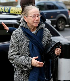 Marie Murray from Balbriggan, Co. Dublin pictured leaving the Four Courts yesterday after a High Court action taken by her and her husband, Thomas, against their former Solicitor Maurice Leahy. Photo: Courts Collins