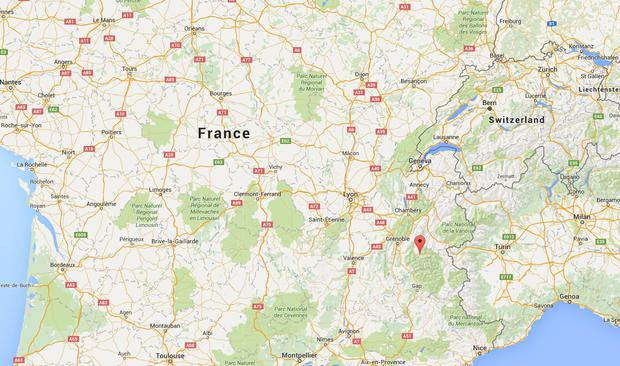 The incident took place at a ski resort south-west of Grenoble (Photo: Google Maps)