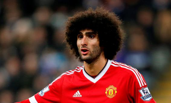 Marouane Fellaini has still yet to establish himself despite his big-money move from Everton: Action Images via Reuters / Carl Recine