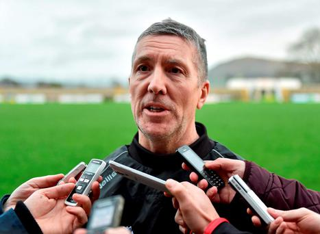 Derry manager Damian Barton made as many as twelve changes to the team that started in the defeat to Tyrone. Photo: Stephen McCarthy / Sportsfile