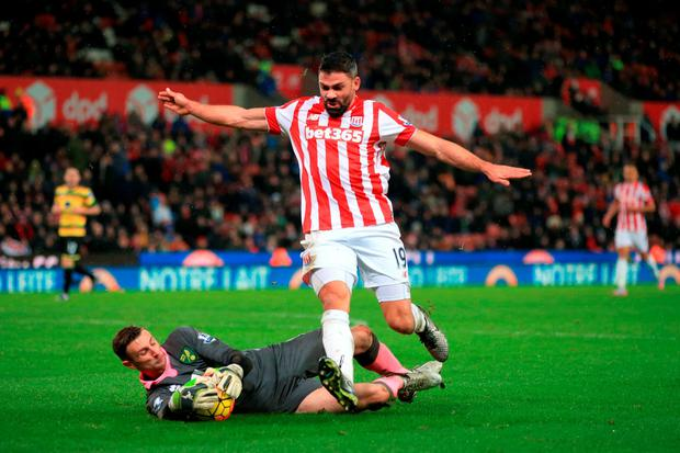 After falling behind to Jonathan Walters' 49th-minute effort, Norwich did well initially to level six minutes later: Nick Potts/PA Wire