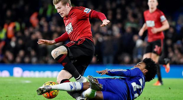 James McClean's late strike earned West Brom a 2-2 draw at Stamford Bridge: Reuters / Toby Melville