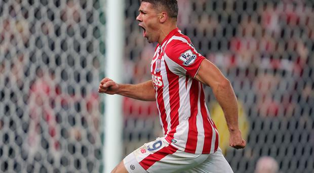 Jonathan Walters arrived at the far post to crash home his 11th goal of the season: Getty Images