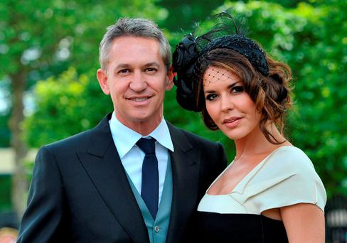 Gary Lineker and his ex-wife Danielle. Photo: Tim Ireland/PA Wire