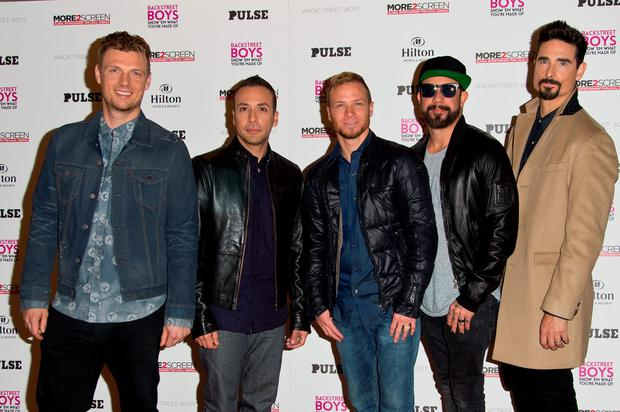 (L-R) Nick Carter, Howie Dorough, Brian Littrell, AJ McLean and Kevin Richardson attend the UK Premiere of