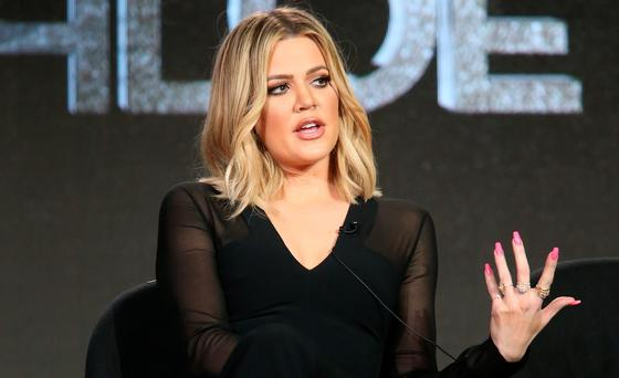 Khloe Kardashian, executive producer, speaks onstage during FYI - Kocktails with Khloe panel as part of the A+E Network portion of This is Cable 2016 Television Critics Association Press Tour at Langham Hotel on January 6, 2016 in Pasadena, California. (Photo by Frederick M. Brown/Getty Images)