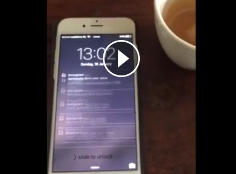 Dutch international footballer, Demy de Zeeuw, has posted a video of what happens to push notifications on his phone