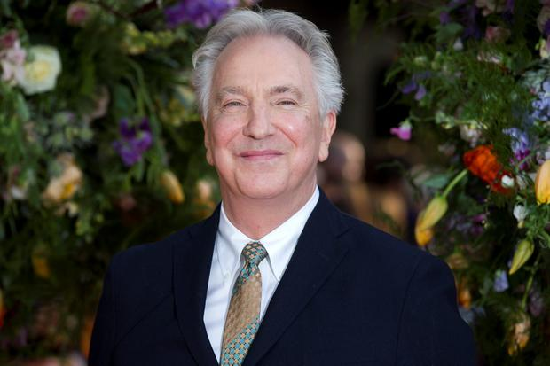 British actor Alan Rickman poses for photographers on the red carpet for the UK premiere of the film