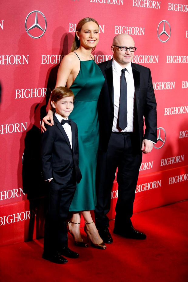 Room' stars Brie Larson and Jacob Tremblay and director Lenny Abrahamson. Photo: Reuters