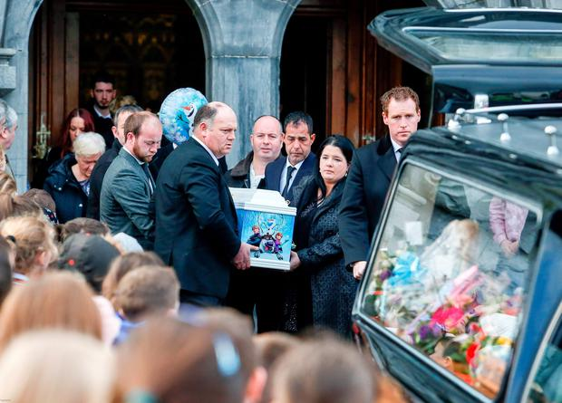 Funeral in Kilmallock Church of Alexandra Costa-Burke, 5, who died of rare cancer.