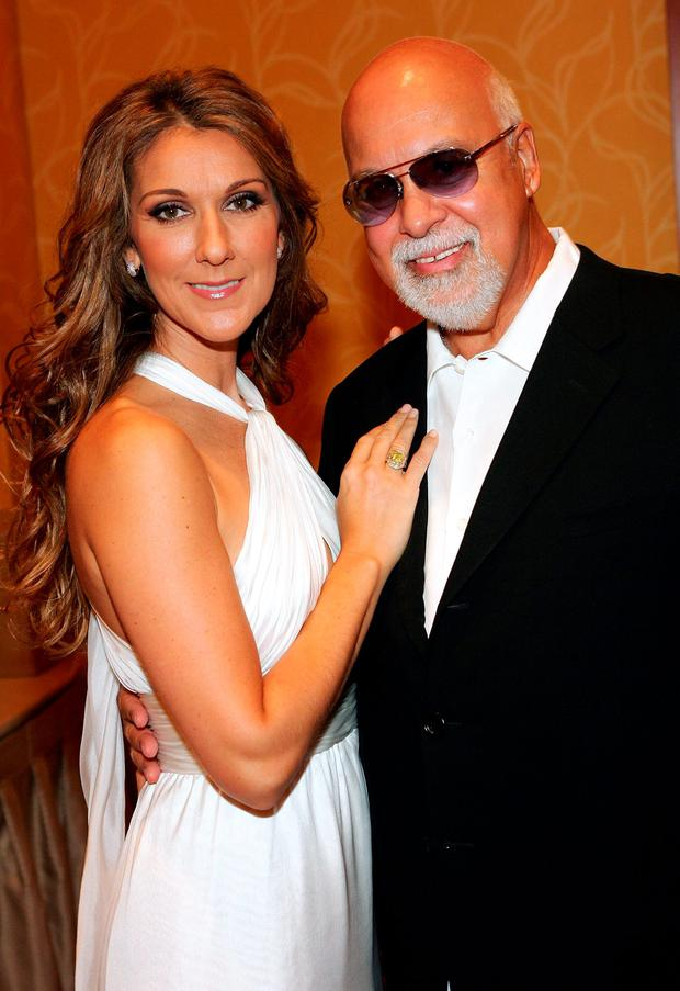 Singer Celine Dion and her husband and manager Rene Angelil pose after Dion performed at the 41st annual Labor Day Telethon to benefit the Muscular Dystrophy Association at the South Coast Hotel & Casino September 3, 2006 in Las Vegas, Nevada. (Photo by Ethan Miller/Getty Images)