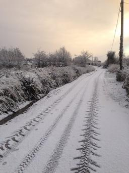 'The big freeze has hit Ballinaglera!' Sent in by Adelle McGourty ‏@AdelleMcGourty on Twitter using #IndoSubmit.