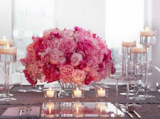Elegant Place Setting with Bouquet and Candles
