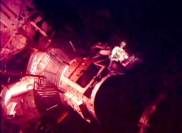 Screen grabbed image taken from footage issued by NASA of Tim Peake, the first Briton to walk in space, as he undertakes a spacewalk to help repair a broken power unit of the International Space Station (ISS)