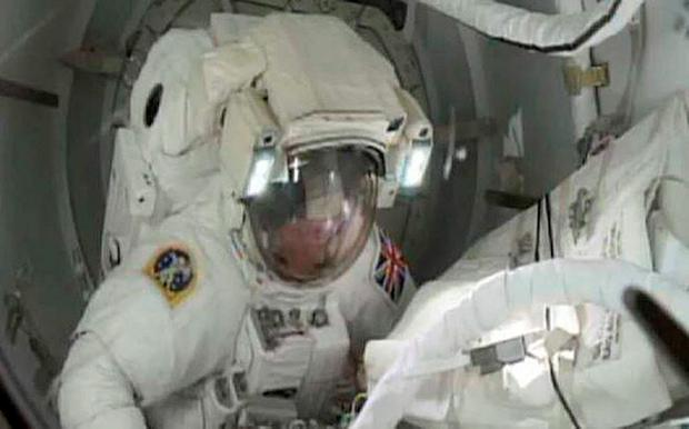 Screen grabbed image taken from footage issued by NASA of Tim Peake, the first Briton to walk in space, preparing to undertake a spacewalk to help repair a broken power unit of the International Space Station (ISS)