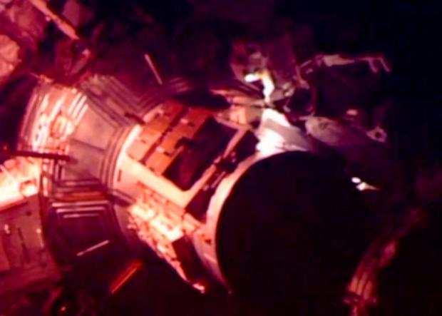 Expedition 46 flight engineer Tim Peake of Britain performs a spacewalk outside the International Space Station in this still image taken from a NASA video on January 15, 2016