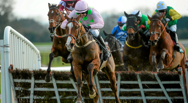 Sempre Medici, with Ruby Walsh up, on their way to winning at Fairyhouse in April, and is fancied strongly deliver again at Naas Photo: Sportsfile