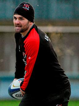 Ulster's Jared Payne during yesterday's captain's run at Kingspan Stadium, Belfast (SPORTSFILE)