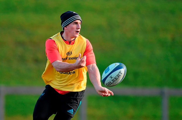 Ian Keatley will start for Munster at 10 but it remains to be seen if he holds the kicking tee for today's game against Stade Francais (SPORTSFILE)