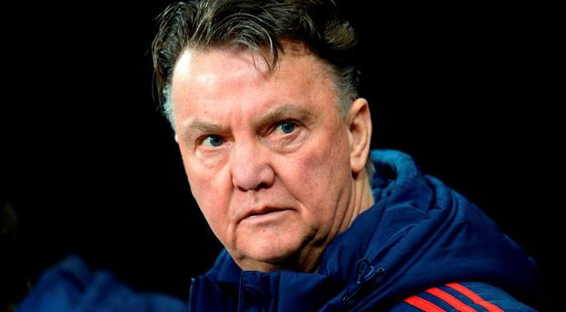 Manchester United's Dutch manager Louis van Gaal arrives ahead of the English Premier League football match between Newcastle United and Manchester United at St James' Park