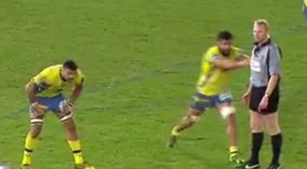 Wayne Barnes was shoved by a player during the encounter between the Ospreys and Clermont