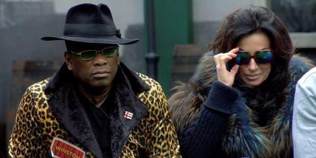 Winston McKenzie and Nancy Dell'Olio on Celebrity Big Brother. PIC: Channel 5