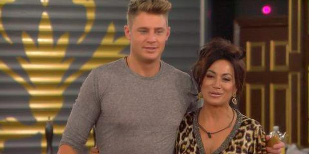 Nancy Dell'Olio and Scotty T on Celebrity Big Brother