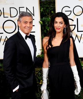 Flood alert: George and Amal Clooney should be worried about the Thames bursting its banks near their new home.