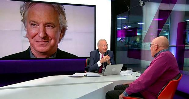 Richard Wilson talking to Jon Snow about Alan Rickman's death