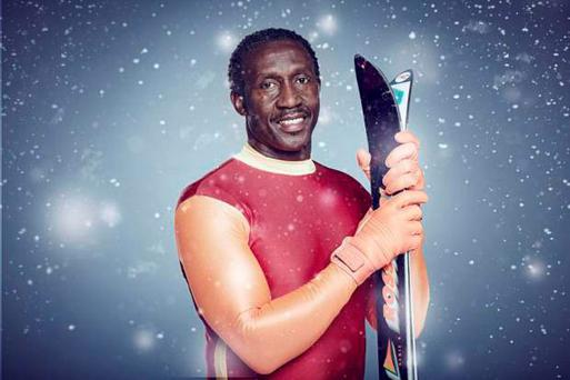 Linford Christie, one of the contestants in this year's Channel 4 reality sport show, The Jump.
