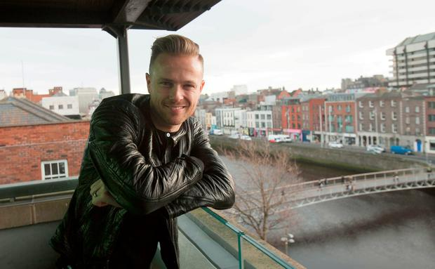 Nicky Byrne at the announcement by RTE that he will represent Ireland in Eurovision 2016 in Sweden with the song Sunlight in the Morrison Hotel, Dublin. Photo: Gareth Chaney Collins
