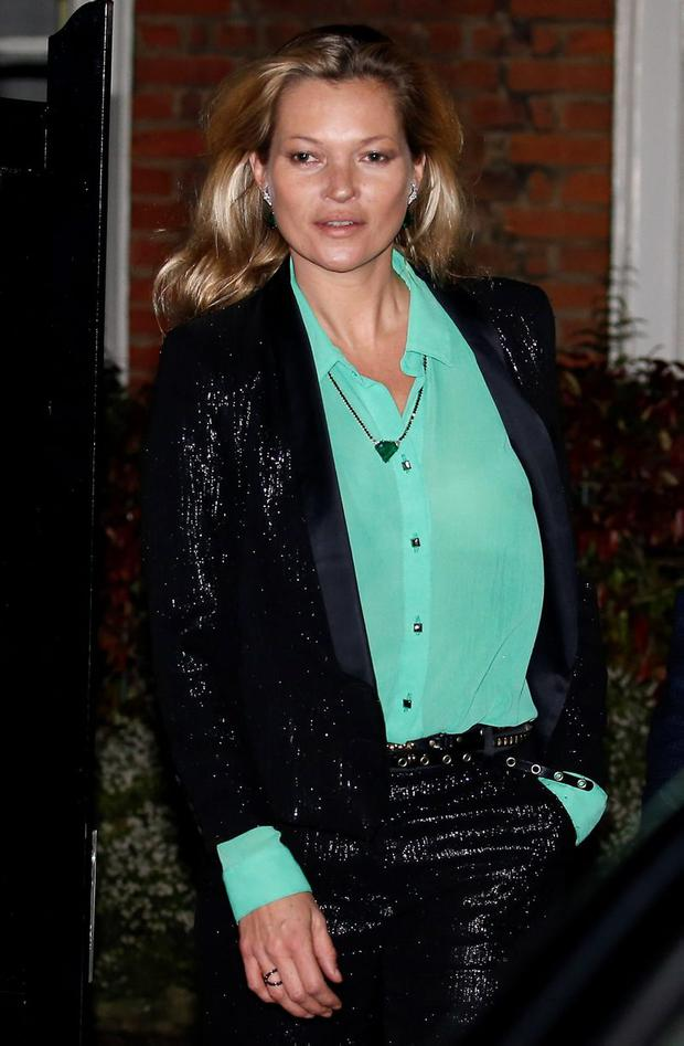 As fresh-faced as ever - Kate Moss seen leaving her North London home the day before her 42nd birthday on January 15, 2016 in London, England. (Photo by Neil Mockford/Alex Huckle/GC Images)