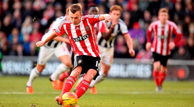 Southampton's James Ward-Prowse scores his side's second goal of the game from the penalty spot