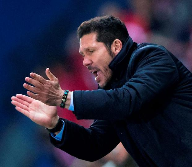 Diego Simeone and his team are growing as they compete against the world's biggest clubs. Photo: Gonzalo Arroyo Moreno/Getty Images