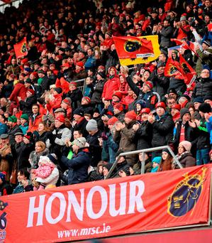 'It drives me demented and it does all the Munster fans who follow them all over Europe and go to all the games'. Photo: Diarmuid Greene / Sportsfile