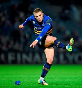 Leinster's Ian Madigan kicks a penalty. Photo: Stephen McCarthy / Sportsfile