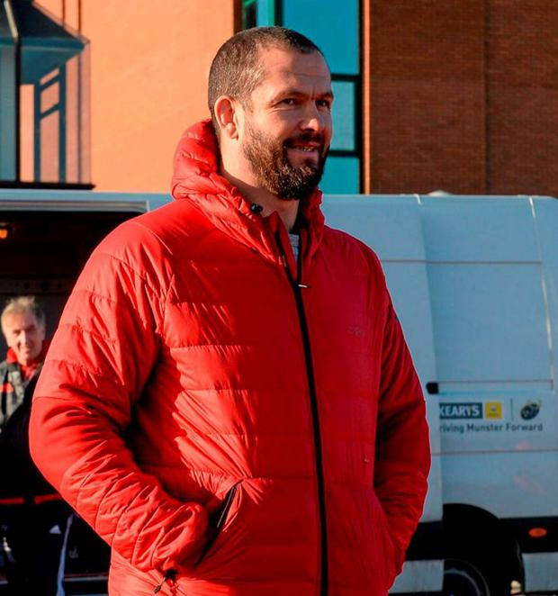 Munster temporary consultant Andy Farrell. Photo: Diarmuid Greene / Sportsfile
