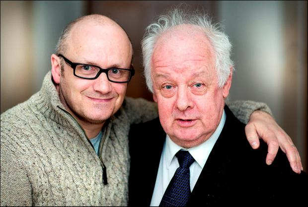 Irish film director Lenny Abrahamson and Jim Sheridan. Photo: David Conachy