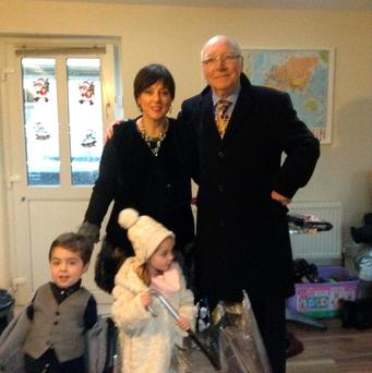 TRUE RURAL GP: Dr Patrick Kelly with his wife, Louise, and twins Ben and Emily