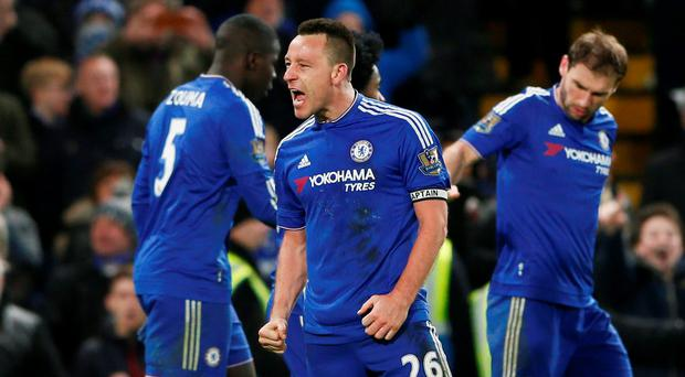 John Terry celebrates scoring the third goal for Chelsea Reuters / Stefan Wermuth
